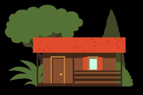 disegno di un bungalow